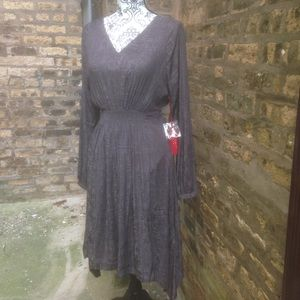 JLo Gray Long-Sleeve Dress